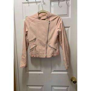Maralyn & Me Baby Pink Moto Jacket